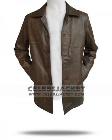 distressed leather supernatural jacket