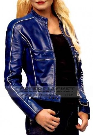 Once Upon A Time Blue Leather Jacket