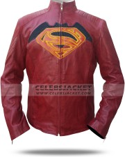 Batman Vs Superman Maroon Leather Jacket