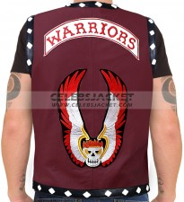 The Warriors Leather Vest Maroon