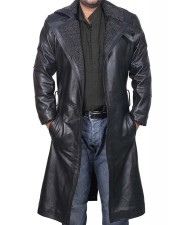 Blade Runner Ryan Gosling Black Leather Fur Coat