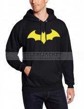 Black Hoodie Batman Logo