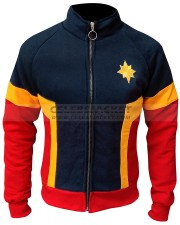 captain marvel brie larson tracksuit jacket