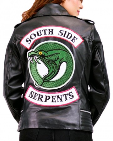 riverdale southside serpents black leather jacket