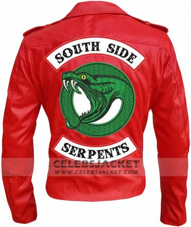 Cheryl Blossom Serpent Jacket Riverdale Red Women Leather