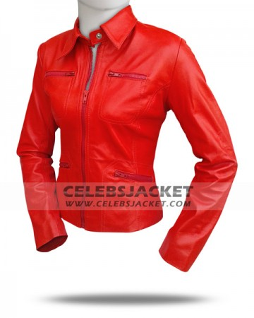 Red Leather Once Upon A Time Jacket