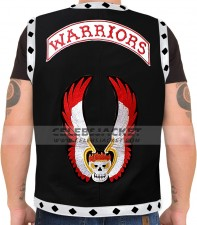 The Warriors Leather Vest Black