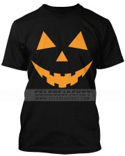 Pumpkin Halloween Teeth Mens Tshirt