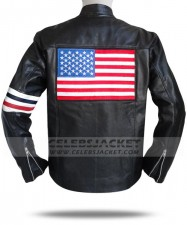 USA Flag Captain America Leather Jacket