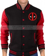 Letterman Red and Black Deadpool Jacket