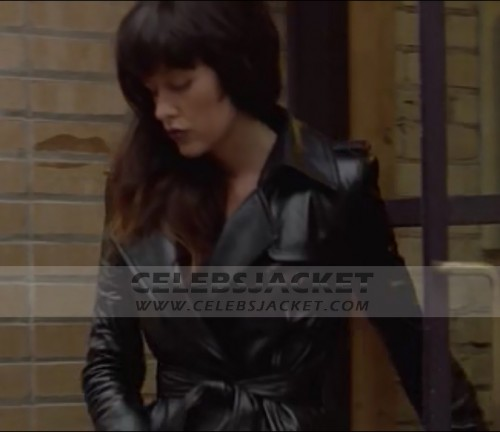 Nurse 3D Long Leather Coat