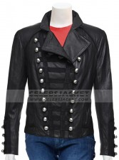 Black Stylish Pattern Jacket For Women