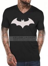 Black T-Shirt With Front Batman Logo