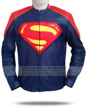 Superman Man Of Steel Leather Jacket Special Edition