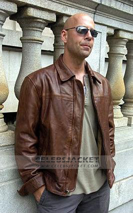 Bruce Willis Brown Jacket from A Good Day To Die Hard 5 2013