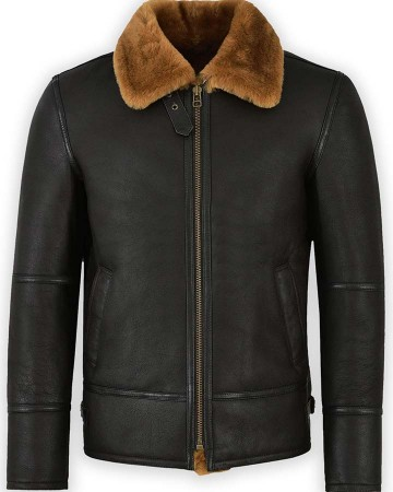 B3 Fur Shearling Sheepskin Leather Jacket