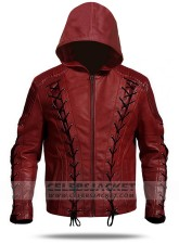 Arrow Arsenal Red Hooded Jacket