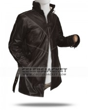 Real Leather Watch Dogs Coat