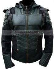 Green Arrow Seasons 5 Leather Jacket