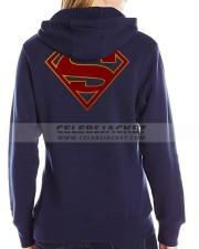Supergirl Hoodie In Blue Color