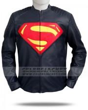 Black Man Of Steel Jacket Leather