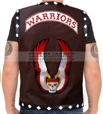 The Warriors Leather Vest Dark Brown