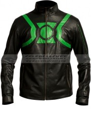 Leather Green Lantern Jacket For Sale